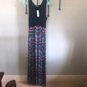 NWT Gilli Tahj 2fer Knit Maxi Dress sz L